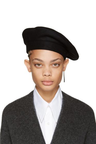 Clyde - Black Wool Beret