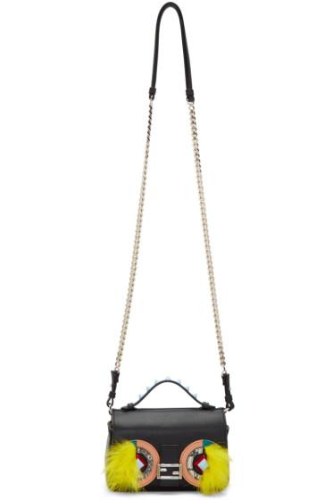 Fendi - Black Eyes Double Micro Baguette Bag