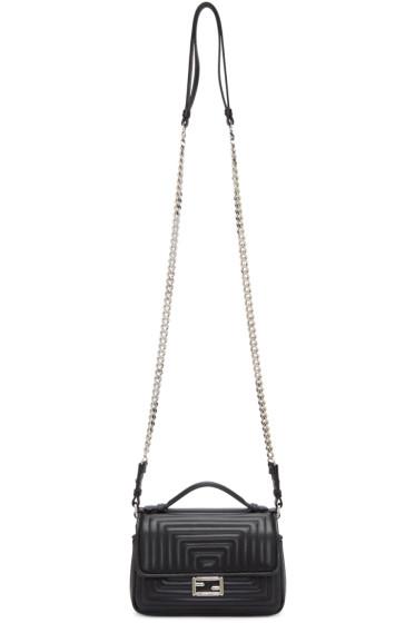 Fendi - Black Quilted Double Micro Baguette Bag