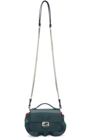 Fendi - Green & Blue Double Micro Baguette Bag