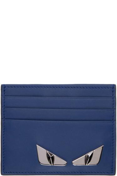 Fendi - Blue Bag Bugs Plaque Card Holder
