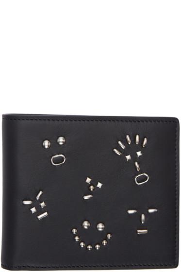 Fendi - Black Studded Bag Bugs Wallet