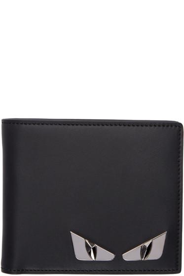 Fendi - Black Bag Bugs Plaque Wallet