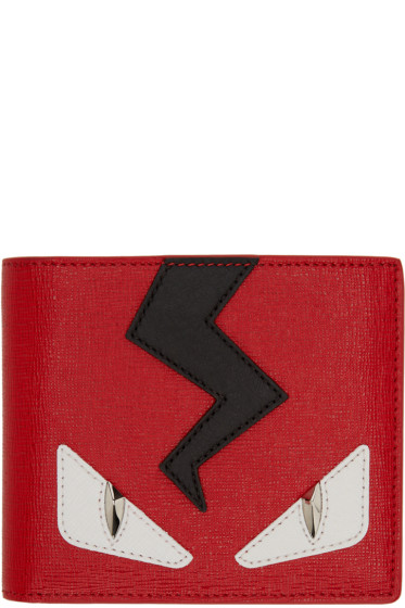 Fendi - Red Monster Eyes Wallet