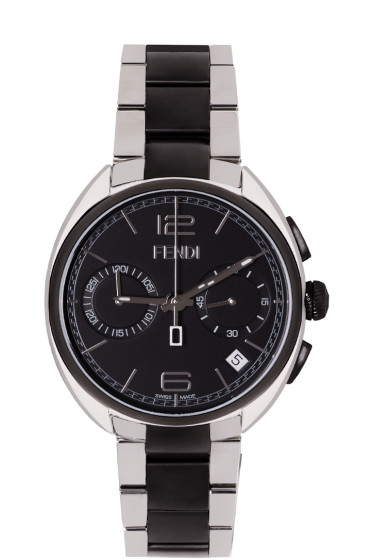 Fendi - Silver & Black Momento Watch