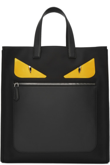 Fendi - Black Nylon Monster Tote