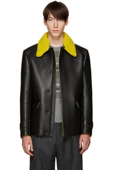 Fendi - Black Shearling Collar Jacket