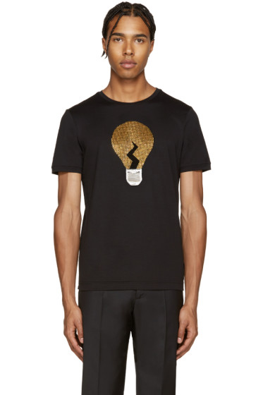 Fendi - Black Embellished Bulb T-Shirt