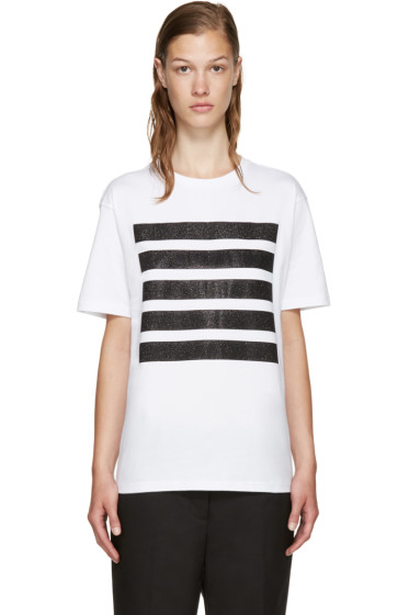 Palm Angels - SSENSE Exclusive White 5 Stripes T-Shirt