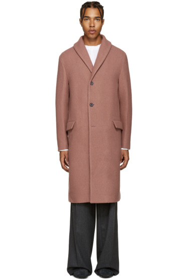 Wooyoungmi - Pink Shawl Collar Coat