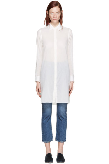 Brock Collection - Off-White Delray Shirt Dress