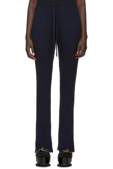 Marques Almeida - Navy Wool Lounge Pants