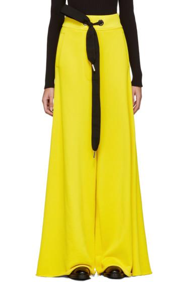 Marques Almeida - Yellow Wide-Leg Lounge Pants
