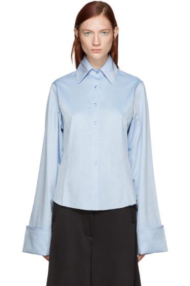 Marques Almeida - Blue Oversized Cuffs Shirt