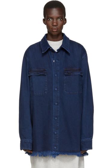 Marques Almeida - Indigo Denim Oversized Shirt