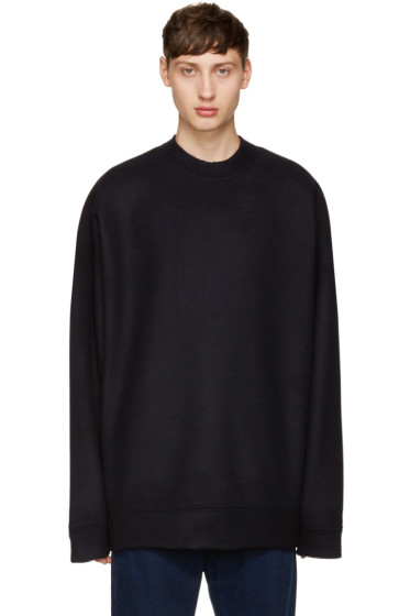 Marques Almeida - Navy Wool Oversized Sweater