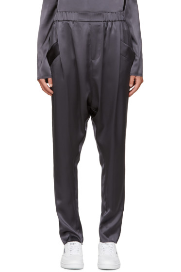 Baja East - Grey Satin Lounge Pants