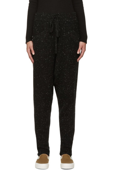 Baja East - Black Cashmere Ribbed Lounge Pants