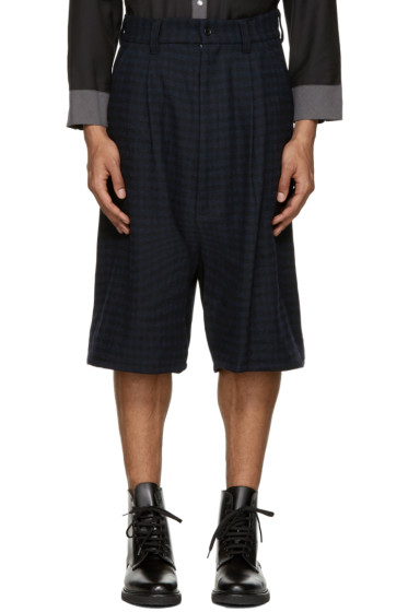 Kidill - Blue Check Tuck Shorts