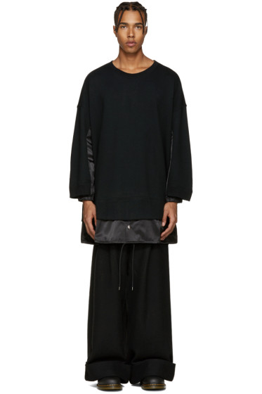 Kidill - Black Panelled Combo Pullover