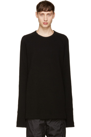 NILøS - Black Waffle Knit Pullover
