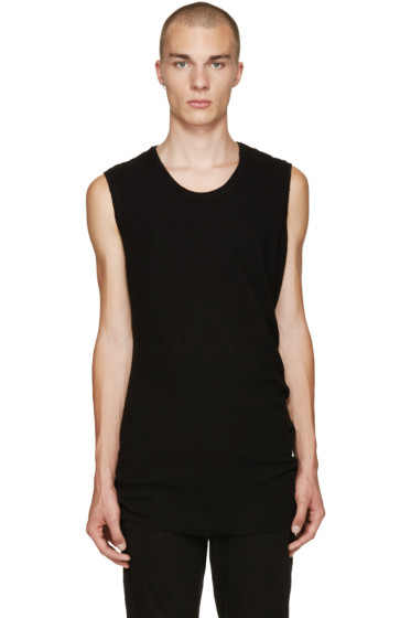 NILøS - Black Sleeveless T-Shirt