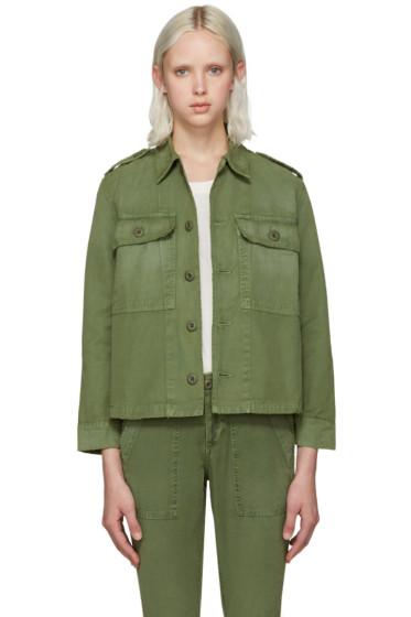 Amo - Green Army Shirt Jacket