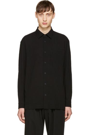 Issey Miyake Men - Black Shrunk Tuck Shirt