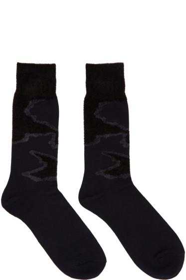 Issey Miyake Men - Black Jacquard Socks