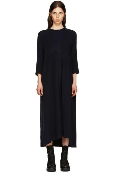 Y's - Navy Asymmetric Panelled Dress
