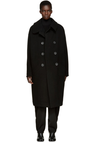 Y's - Black U-Big Coat