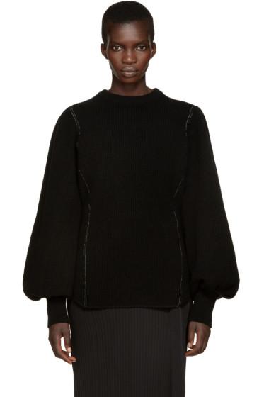 Y's - Black K-Gather Sweater