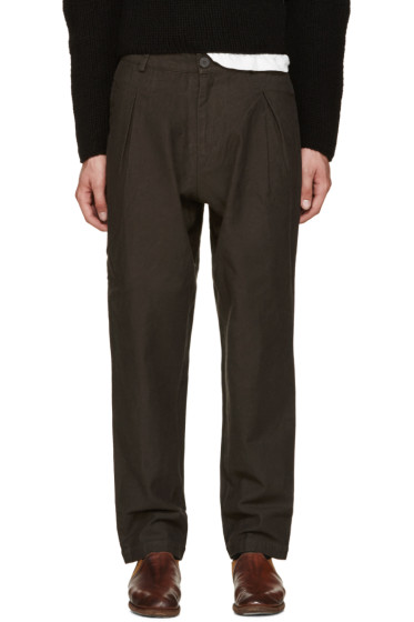 Isabel Benenato - Grey Pleated Trousers