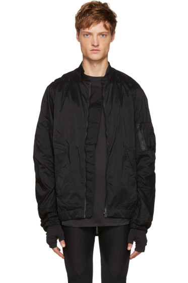 Satisfy - Black Nylon Bomber Jacket