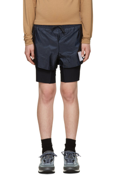 Satisfy - Navy Long Distance Shorts
