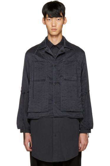 Craig Green - Black Silk Workwear Jacket