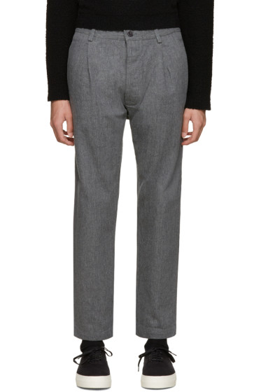 Sunnei - Grey Selvedge Classic Trousers