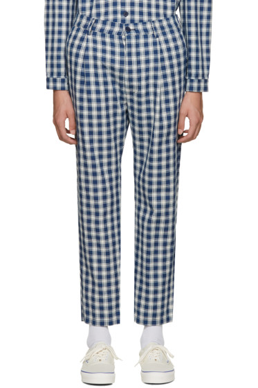 Sunnei - Blue Check Classic Trousers
