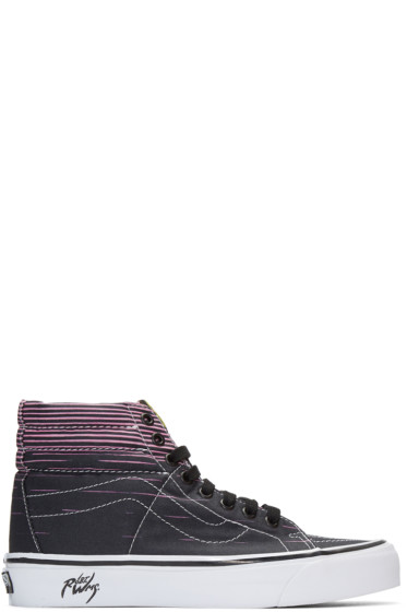 Vans - Black SK8-Hi 38 Decon LX Flaming Cobras Robert Wiliams Edition Sneakers