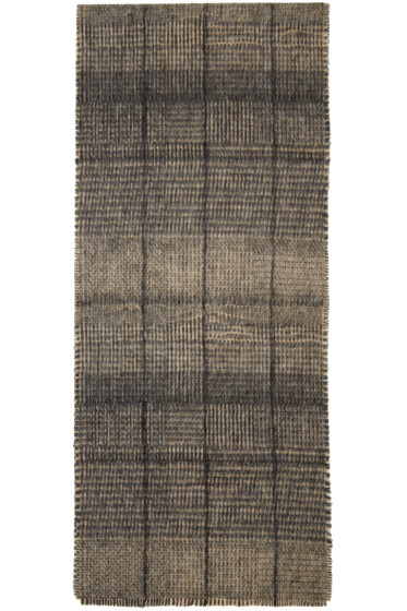 Stephan Schneider - Black & Beige Home Check Scarf