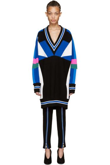 Emilio Pucci - Multicolor Colorblocked Sweater Dress