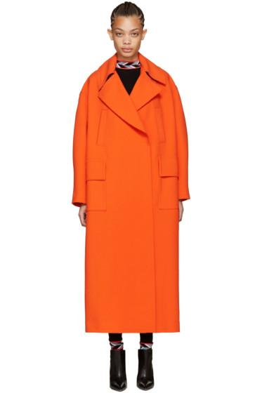Emilio Pucci - Orange Oversized Wool Coat