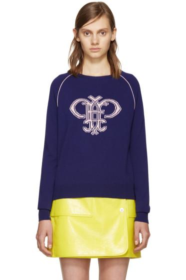 Emilio Pucci - Purple Wool Logo Sweater