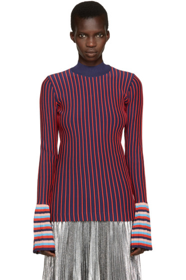 Emilio Pucci - Navy & Red Striped Top
