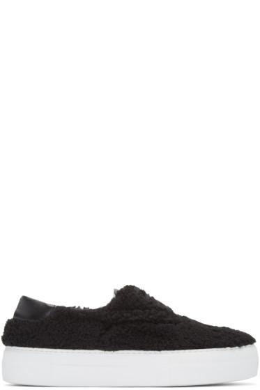 Joshua Sanders - Black Shearling Sneakers