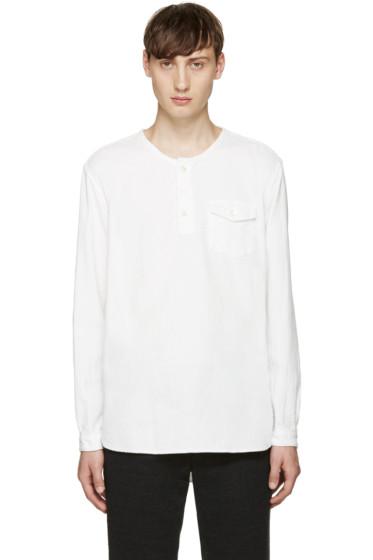 Blue Blue Japan - White Collarless Shirt