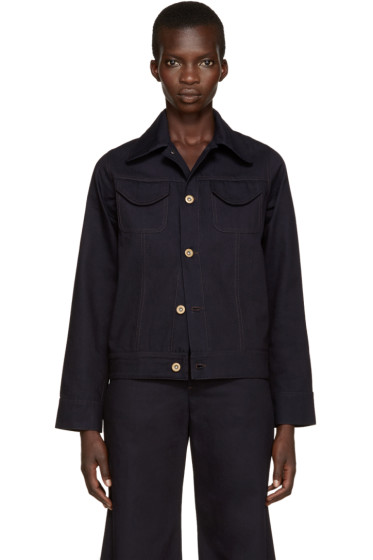 Wales Bonner - Indigo Denim Syms Jacket