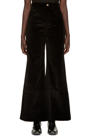 Wales Bonner - Black Velvet Isaac Trousers
