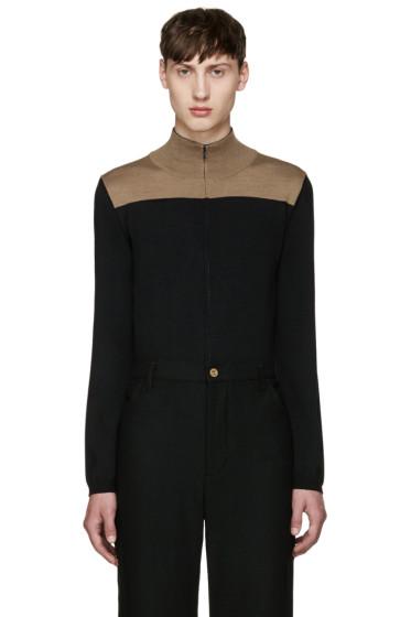 Wales Bonner - Black Emory Zip-Up Sweater