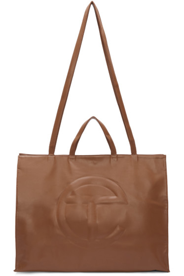 Telfar - Brown Large Shopping Tote